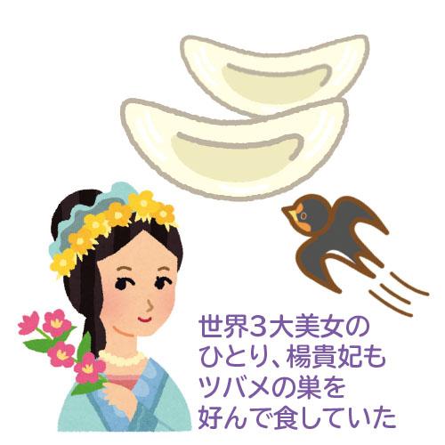 世界3大美女の ひとり、楊貴妃も ツバメの巣を 好んで食していた